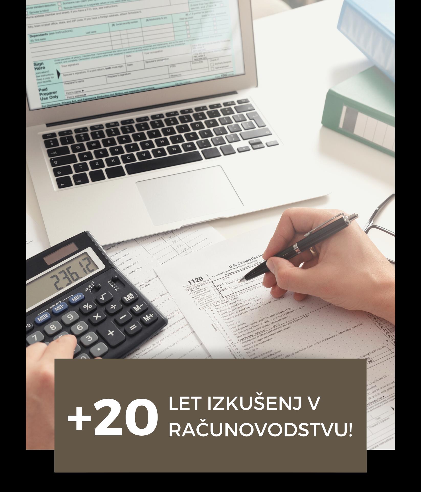 20 let izkušenj v računovodstvu